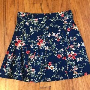 Floral Button Up Skirt